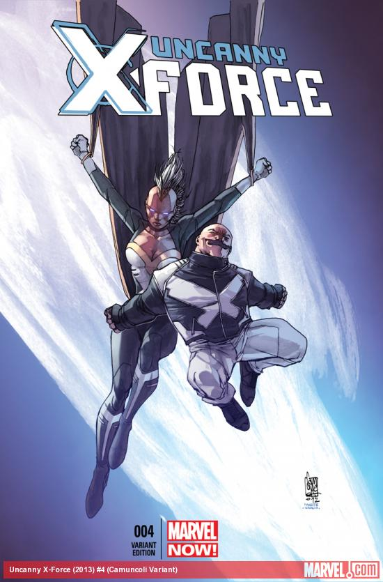 UNCANNY X-FORCE 4 CAMUNCOLI VARIANT (NOW, 1 FOR 50, WITH DIGITAL CODE)