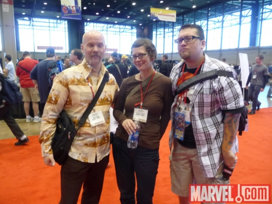 Paul Tobin, Colleen Coover and Agent M at C2E2 2010