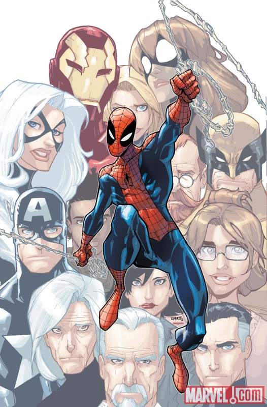 Image Featuring Black Cat, Iron Man, Mr. Fantastic, May Parker, Spider-Man, Wolverine, The Winter Soldier, Carlie Cooper