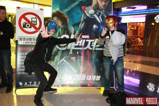 "Fans celebrated their favorite Avenger during a special event for ""Marvel's The Avengers"" in Seoul"