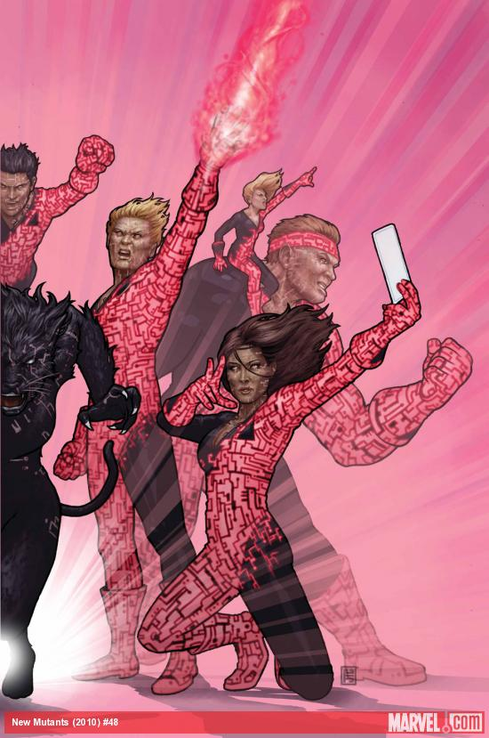 New Mutants (2009) #48 cover by John Tyler Christopher
