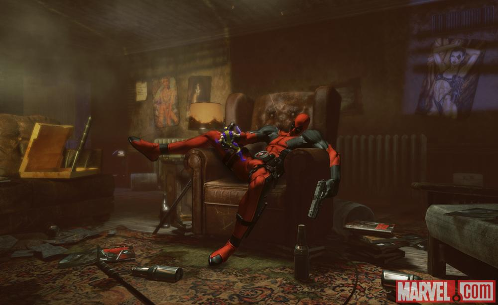 Deadpool video game concept art