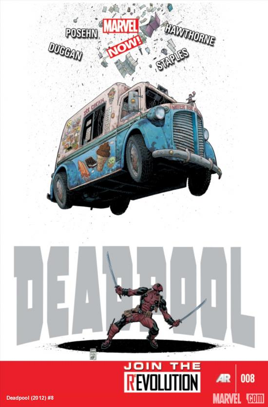 Deadpool (2012) #8 cover by Art Adams