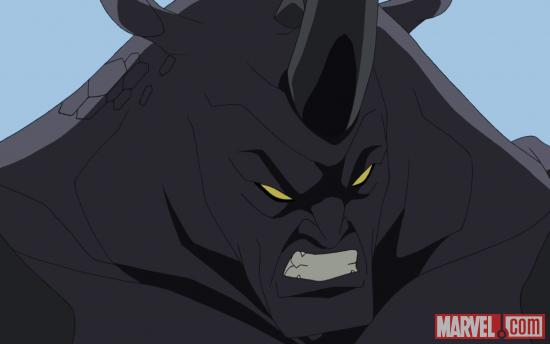 The Rhino rampages through Ultimate Spider-Man in its second season