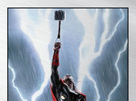 Marvel's Thor: The Dark World limited edition metal variant print by Charlie Wen