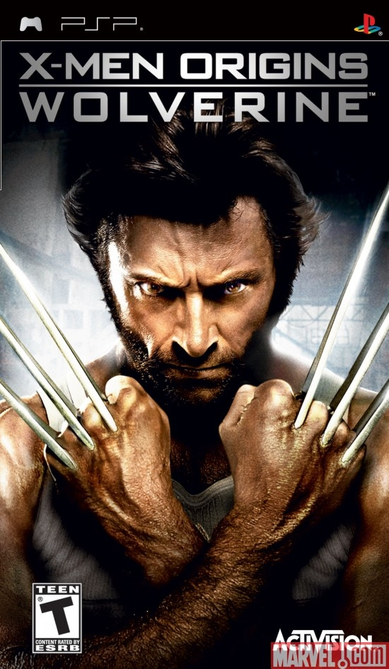 X-Men Origins: Wolverine PSP Box Art