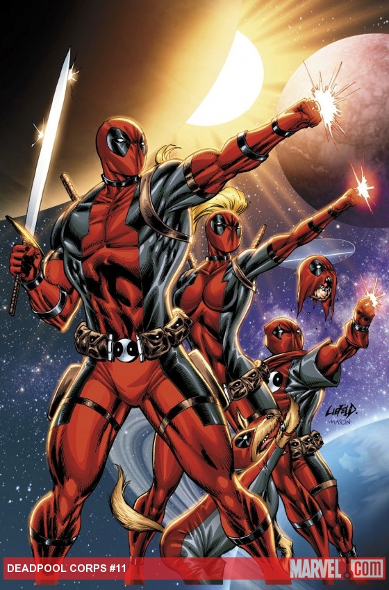 Deadpool Corps #11 cover by Rob Liefeld