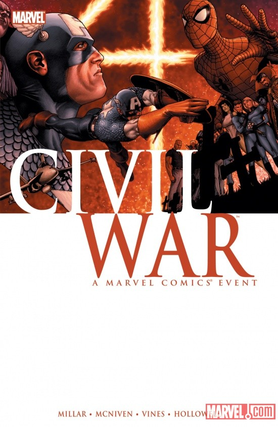 Civil War trade paperback cover by Steve McNiven