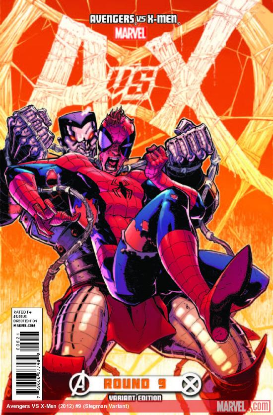AVENGERS VS. X-MEN 9 STEGMAN VARIANT (1 FOR 100, WITH DIGITAL CODE)