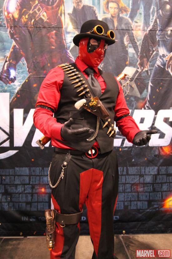 Deadpool cosplayer at Fan Expo 2012