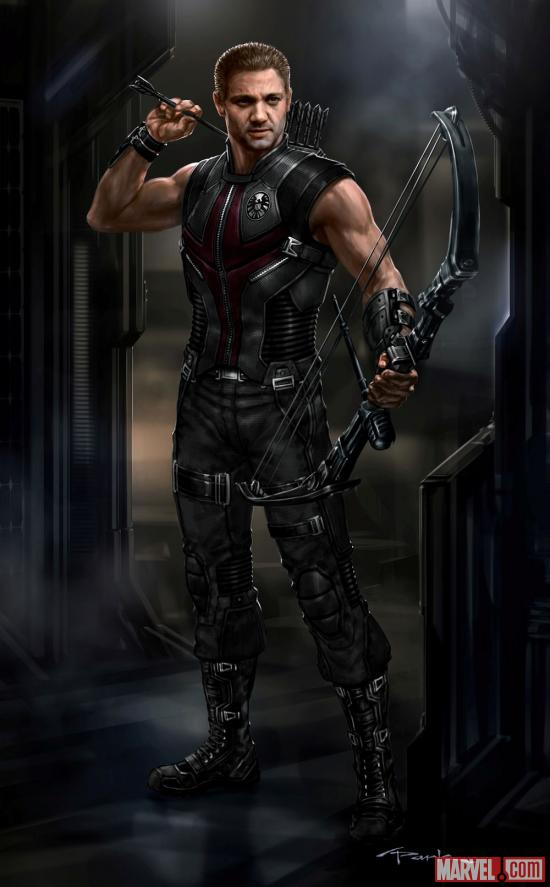 Hawkeye concept art by Andy Park from Marvel's The Avengers