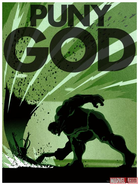 Puny God poster by Matthew Ferguson