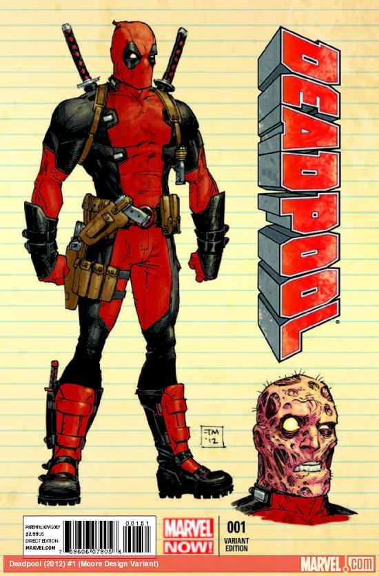 DEADPOOL 1 MOORE DESIGN VARIANT (NOW)