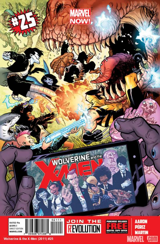 Wolverine & The X-Men #25 cover by Ramon Perez