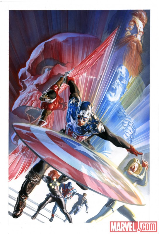 Image Featuring Black Widow, Captain America, Sharon Carter, Falcon, Nick Fury, Union Jack (Joseph Chapman), The Winter Soldier