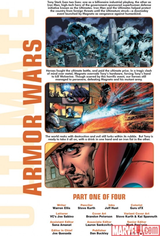 Preview art for ULTIMATE COMICS ARMOR WARS #1