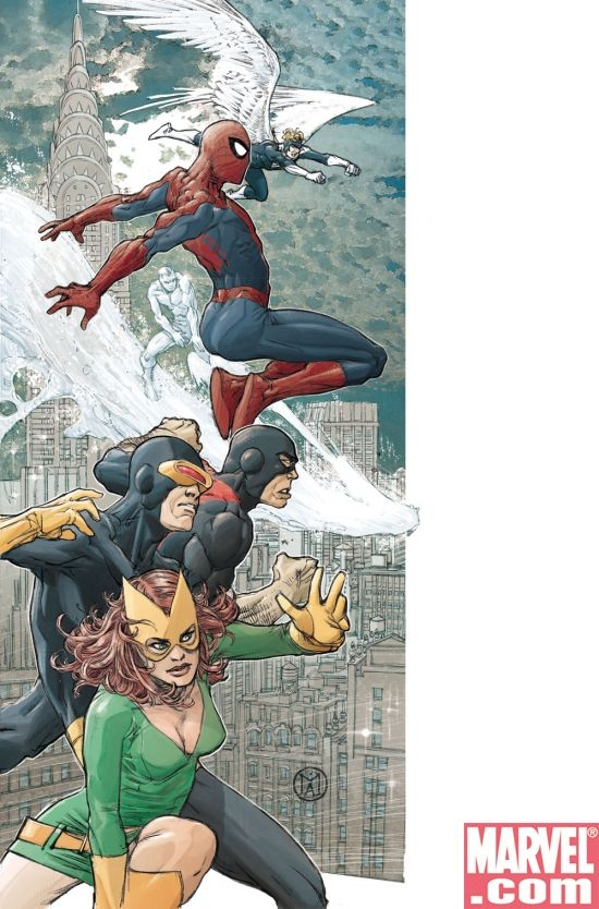 X-MEN/SPIDER-MAN #1 cover by Mario Alberti