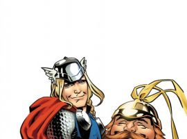 THOR THE MIGHTY AVENGER #4 cover by Chris Samnee