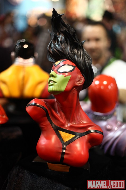 Skrull Spider-Woman bust from Sideshow Collectibles