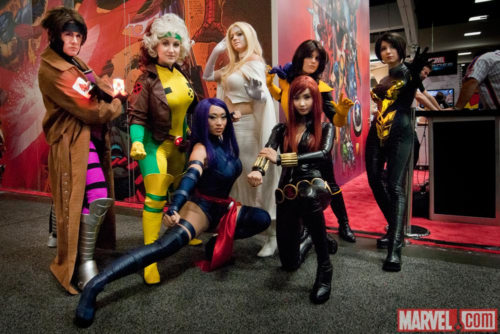 SDCC 2012: X-Men Cosplayers at the Marvel Booth