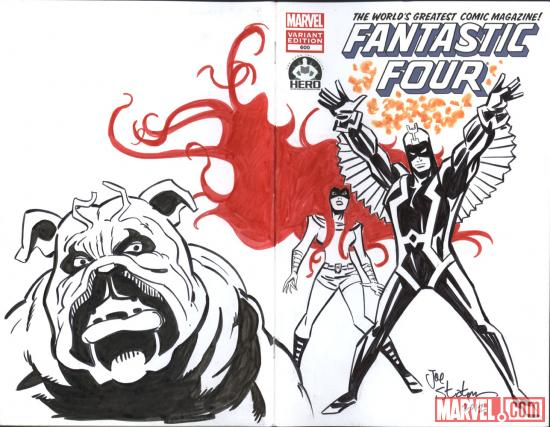 Fantastic Four #600 Hero Initiative variant cover by Joe Staton