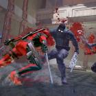 Deadpool slices several opponents in the Deadpool video game