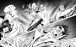 Morbius: The Living Vampire #5 preview inks by Rich Elson