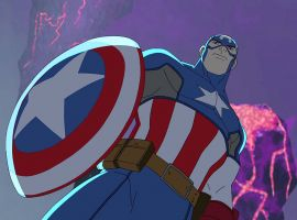 Captain America stands tall in Marvel's Avengers Assemble