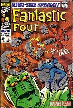 Image Featuring Annihilus, Fantastic Four, Human Torch, Mr. Fantastic