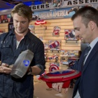 Thor and Captain America Visit Toy Fair