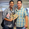 Gio Gonzalez with Spidey Editor, Steve Wacker