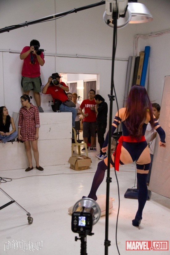 Marvel Cosplay: behind the Scenes at the Psyclocke Shoot