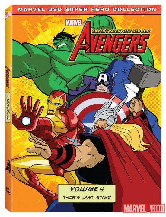 The Avengers: Earth's Mightiest Heroes! Vol. 4 DVD box art