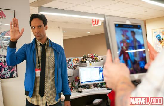 Danny Pudi at Marvel Offices