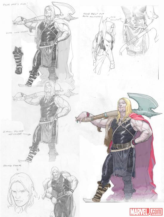 Young Thor design sheet by Esad Ribic