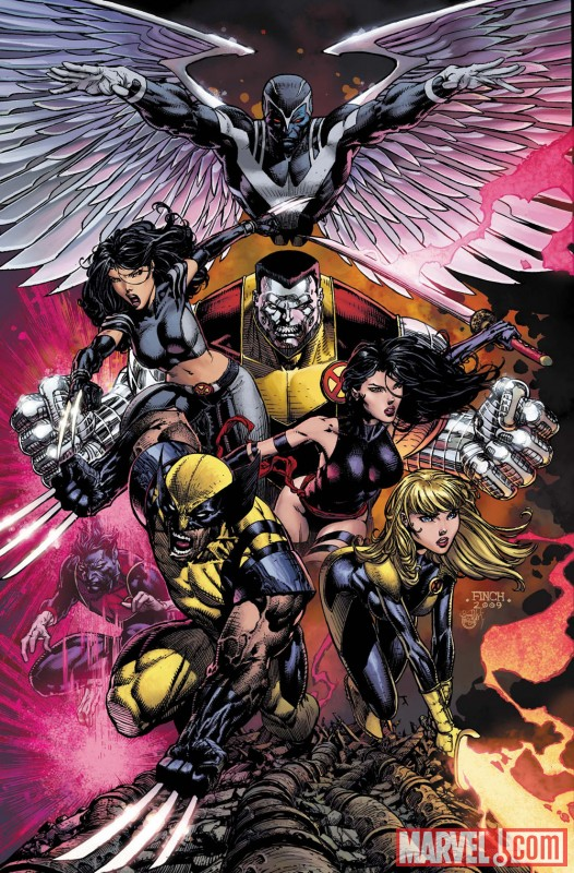 Image Featuring Archangel, Colossus, Magik (Illyana Rasputin), Psylocke, Wolverine, X-23