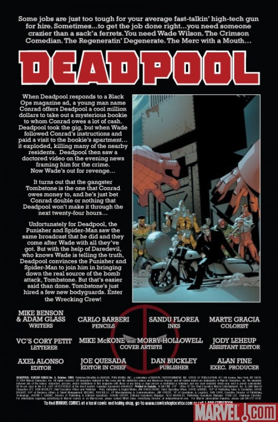 Deadpool: Suicide Kings #5, intro page