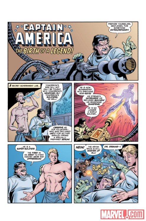 CAPTAIN AMERICA: THE 1940's NEWSPAPER STRIP #1 preview art by Karl Kesel