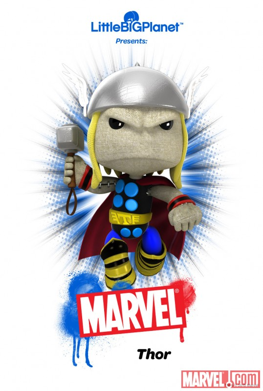 LittleBigPlanet Thor poster - Marvel.com exclusive