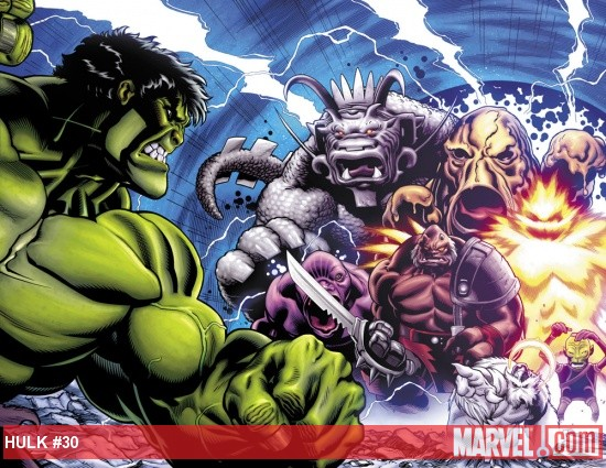 Hulk (2008) #30 preview art by Ed McGuinness