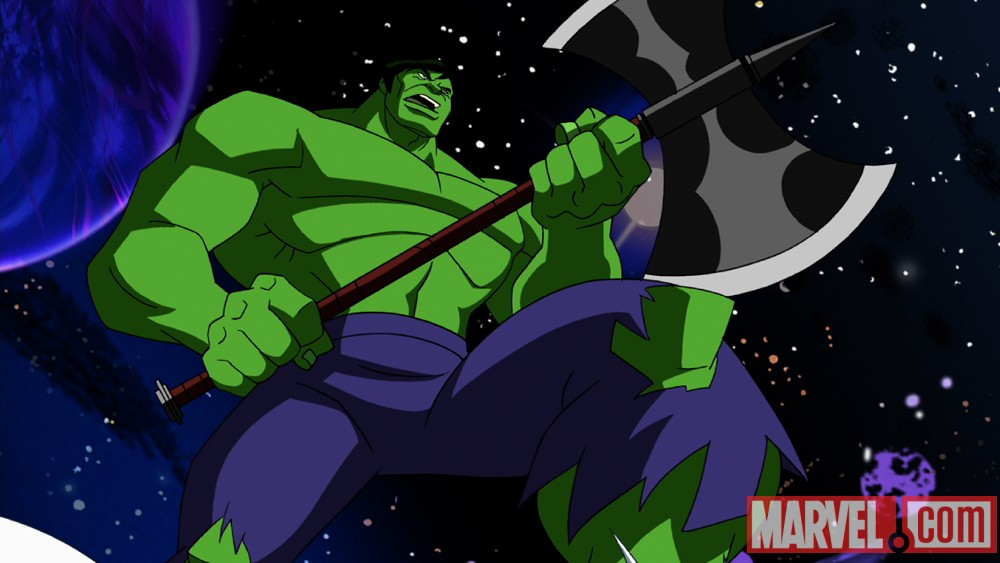 Hulk readies for battle in The Avengers: Earth's Mightiest Heroes!
