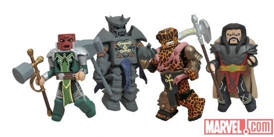 Sin, Serpent, Grey Gargoyle, and Thing Minimates from Diamond Select Toys