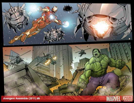 Avengers Assemble #9 preview art by Stefano Caselli