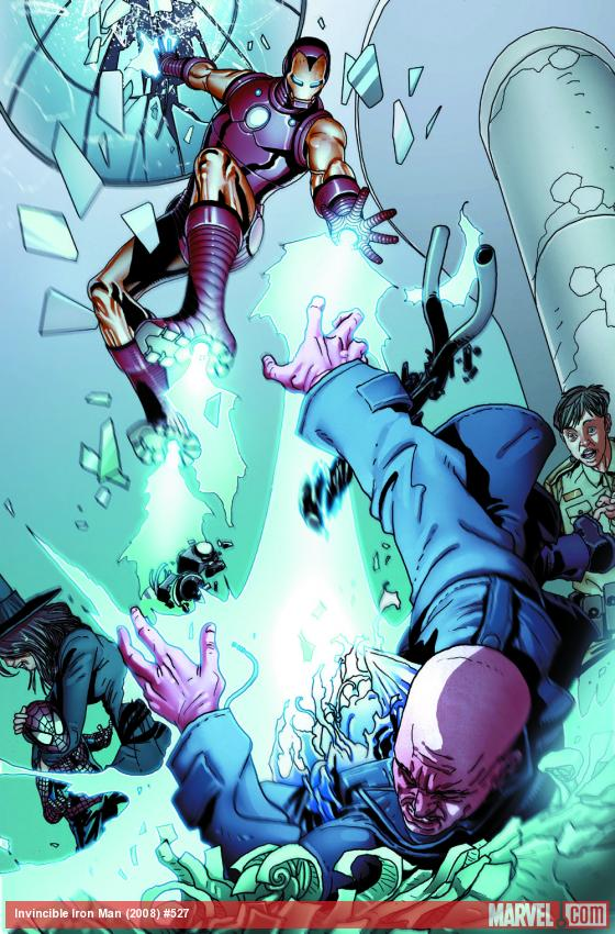 Invincible Iron Man #527 preview art by Salvador Larroca