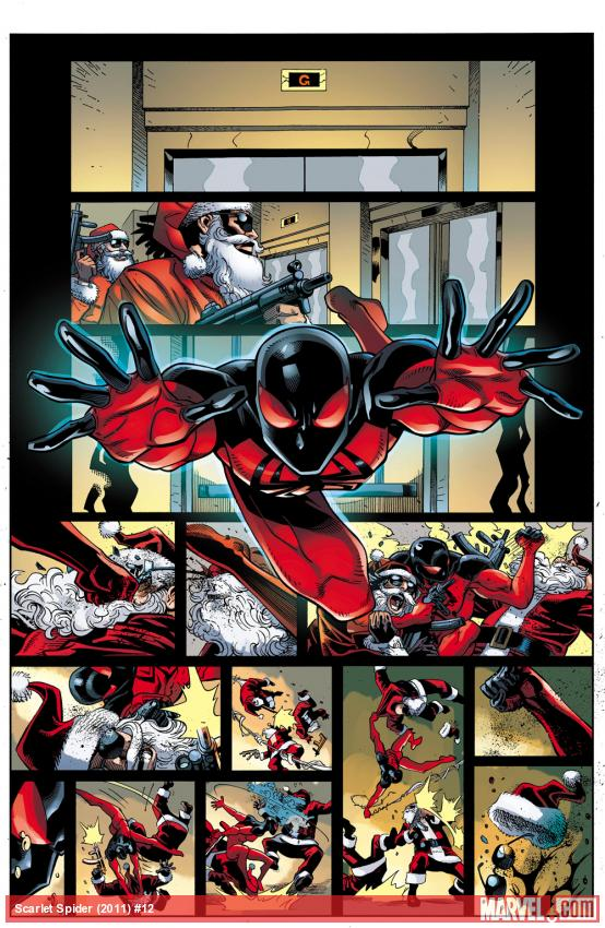 Scarlet Spider #12 preview art by Reilly Brown