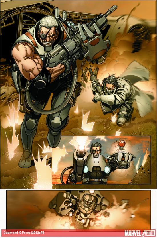 Cable & X-Force #3 preview art by Salvador Larroca