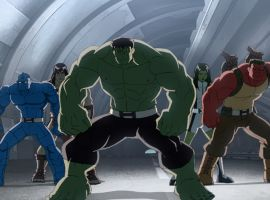The Hulks stand ready for battle in Marvel's Hulk and the Agents of S.M.A.S.H.