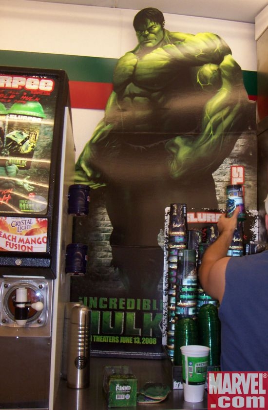 Incredible Hulk cardboard display