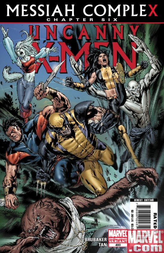 UNCANNY X-MEN #493 Second Printing Cover by Billy Tan