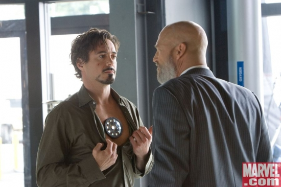 Tony Stark reveals himself to Obadiah Stane
